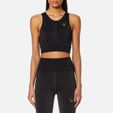 Lucas Hugh Women's Technical Knit Stardust Crop Top Black/Multi