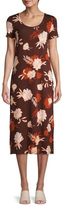 Lord & Taylor Floral-Print Knee-Length Dress