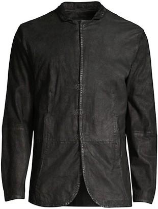 John Varvatos Slim Leather Jacket