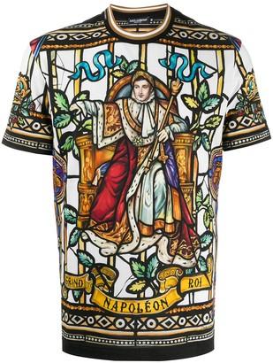 Dolce & Gabbana Napoleon print t-shirt