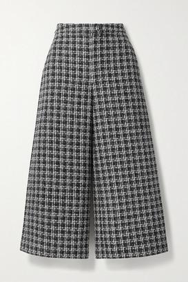 Huishan Zhang Martina Tweed Culottes - Black