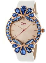 Boum Precieux BOUBM4206 Women's Rose Gold and White Leather Analog Watch