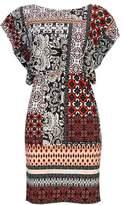 Wallis Petite Coral Paisley Print Shift Dress