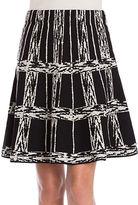 Nic+Zoe PETITE Petite Windowpane Twirl Skirt