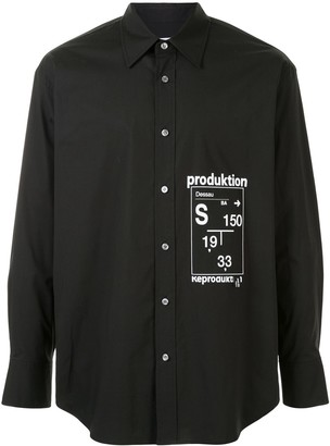 Solid Homme Production long-sleeved shirt