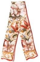 Oscar de la Renta Silk Floral Shawl