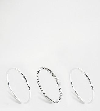 Kingsley Ryan Exclusive sterling silver stacking rings 3 pack