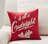 """Pottery Barn """"To All A Goodnight"""" Pillow"""