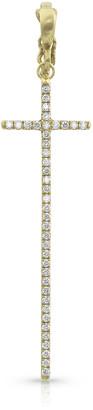 Dominique Cohen 18k Yellow Gold Diamond Cross Pendant (Tall)