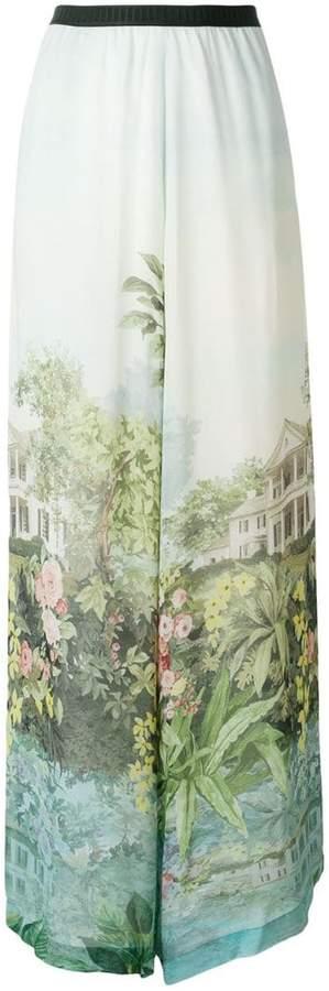 Antonio Marras Inga printed wide leg trousers