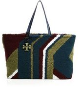 Tory Burch Britten Wool-Shearling Tote