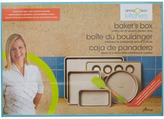 Anna Olson Kitchen 5-Piece Quality Baking Pans Set With Bonus Silicone Spatula