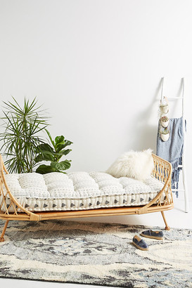 Anthropologie Pari Rattan Daybed By in Beige