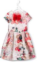 Simonetta floral jacquard dress