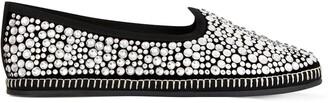 Giuseppe Zanotti Crystal-Embellished Loafers