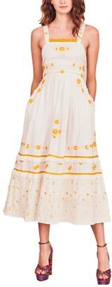 LoveShackFancy Asher Pinafore Dress