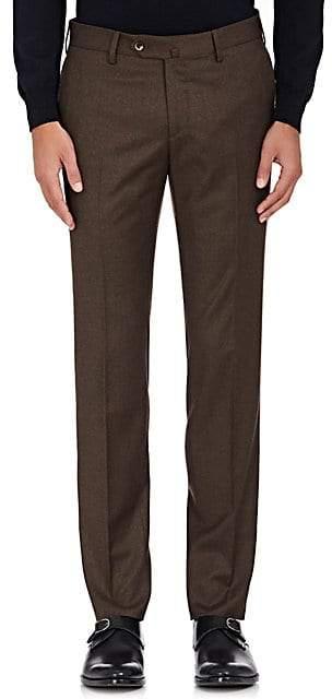 Pt01 Men's Wool Super-Slim Trousers - Brown