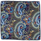 Black Nemi Italian Silk Satin Paisley Pocket Square