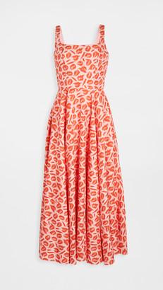 Brandon Maxwell Lip Print Dress