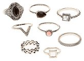 Charlotte Russe Faceted Stone Statement & Midi Rings - 8 Pack