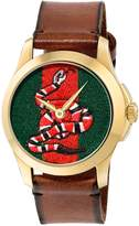 Gucci Quartz Gold and Leather Casual Two-Tone Men's Watch(Model: YA1264012)