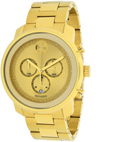 Movado Bold 3600278 Men's Round Gold Stainless Steel Watch
