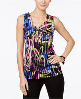 INC International Concepts Petite Printed Top, Only at Macy's