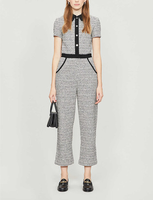 Maje Penala cotton-blend jumpsuit