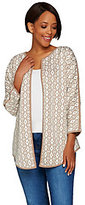 Denim & Co. As Is Studio by Jacquard Open Front Cardigan