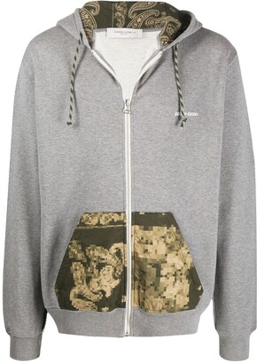 Golden Goose Abstract Print Pocket Hoodie