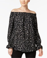 Alfani PRIMA Printed Off-The-Shoulder Top, Only at Macy's