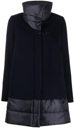 Fay Contrast-Panel Padded Coat