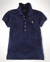 Ralph Lauren Shirt, Little Girls Mesh Polo Shirt