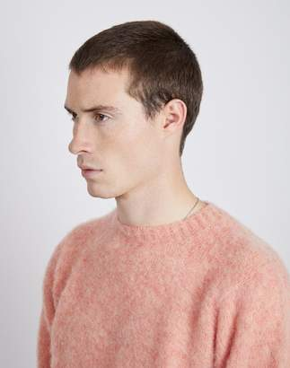 Shetland Woollen Co. - Shaggy Crew Neck Jumper Sunglow
