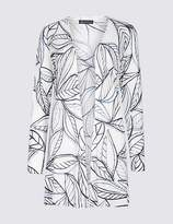 Marks and Spencer Leaf Print Long Sleeve Cardigan