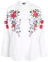 Topshop Embroidered Poplin Shirt