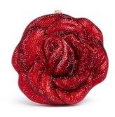 Judith Leiber 'New Rose' crystal pavé minaudière