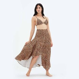 Summersalt The Beach to Brunch Wrap Skirt - Leopard