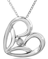 Jessica Simpson Heart Pendant Diamond Accent in Sterling Silver