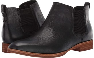 Kork-Ease Kama (Black Full Grain Leather) Women's Boots