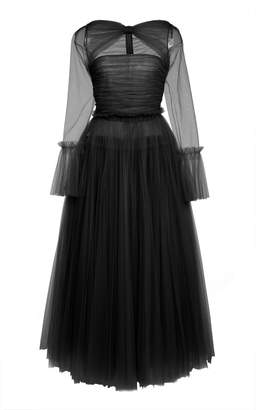 KHAITE Jean Cutout Ruched Tulle Gown Size: 2