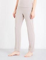 I.D. Sarrieri Satin-trim stretch-jersey trousers