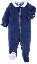 Petit Bateau Baby girls pajamas in velours