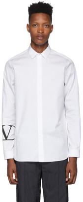 Valentino White VLogo Print Shirt