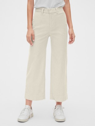 Gap High Rise Wide-Leg Crop Cords