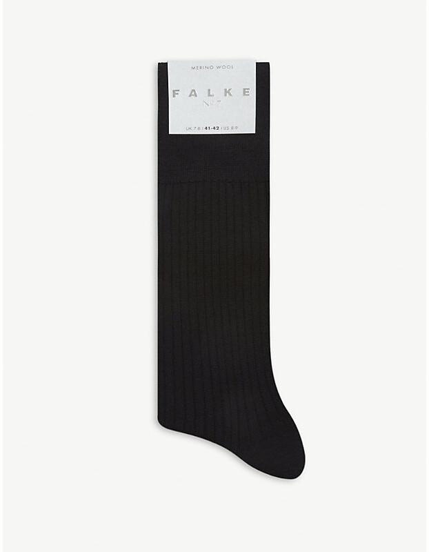 Falke No7 Ribbed virgin wool socks