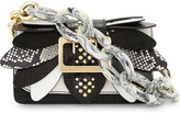 Burberry Small Buckle Wings snakeskin