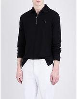 Ralph Lauren Purple Label Long Sleeved Cotton-piqué Polo Shirt