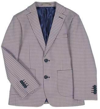 Isaac Mizrahi Check Two Button Blazer Jacket (Toddler, Little Boys, & Big Boys)