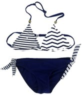 Meiruian Kids Girl Flowers Swimsuit Two Pieces Bikini Set-15Years TY201007#